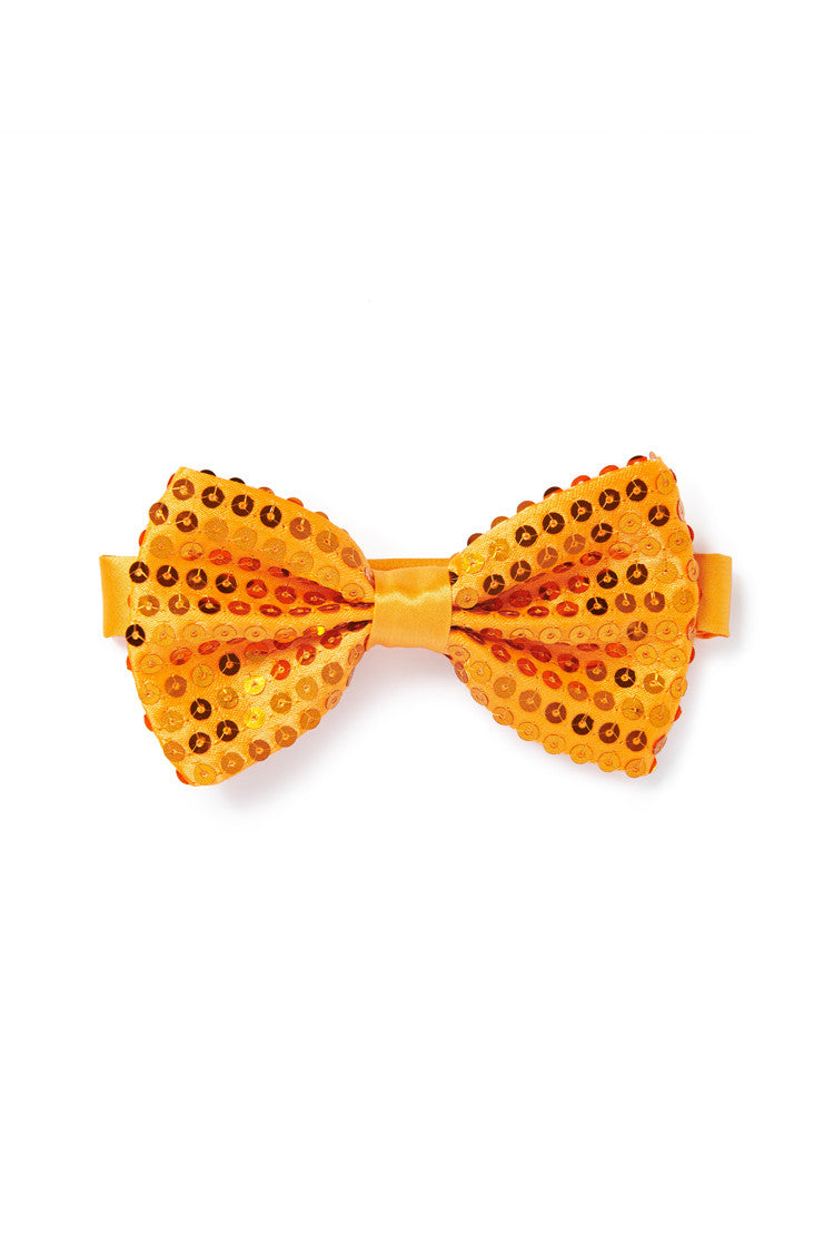 Orange Sequin Bow Tie