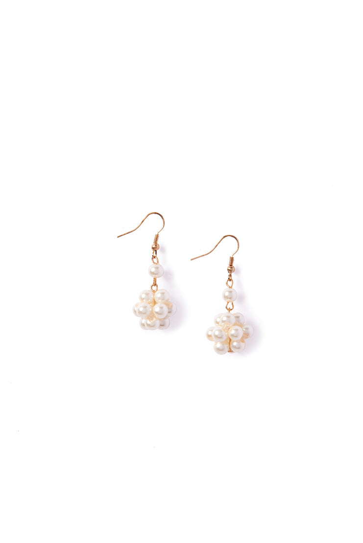 Pearl Cluster Hook Earrings