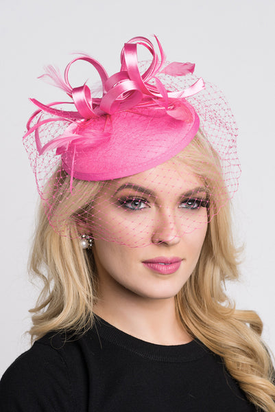 """Juliet"" Felt Fascinator - Pink"