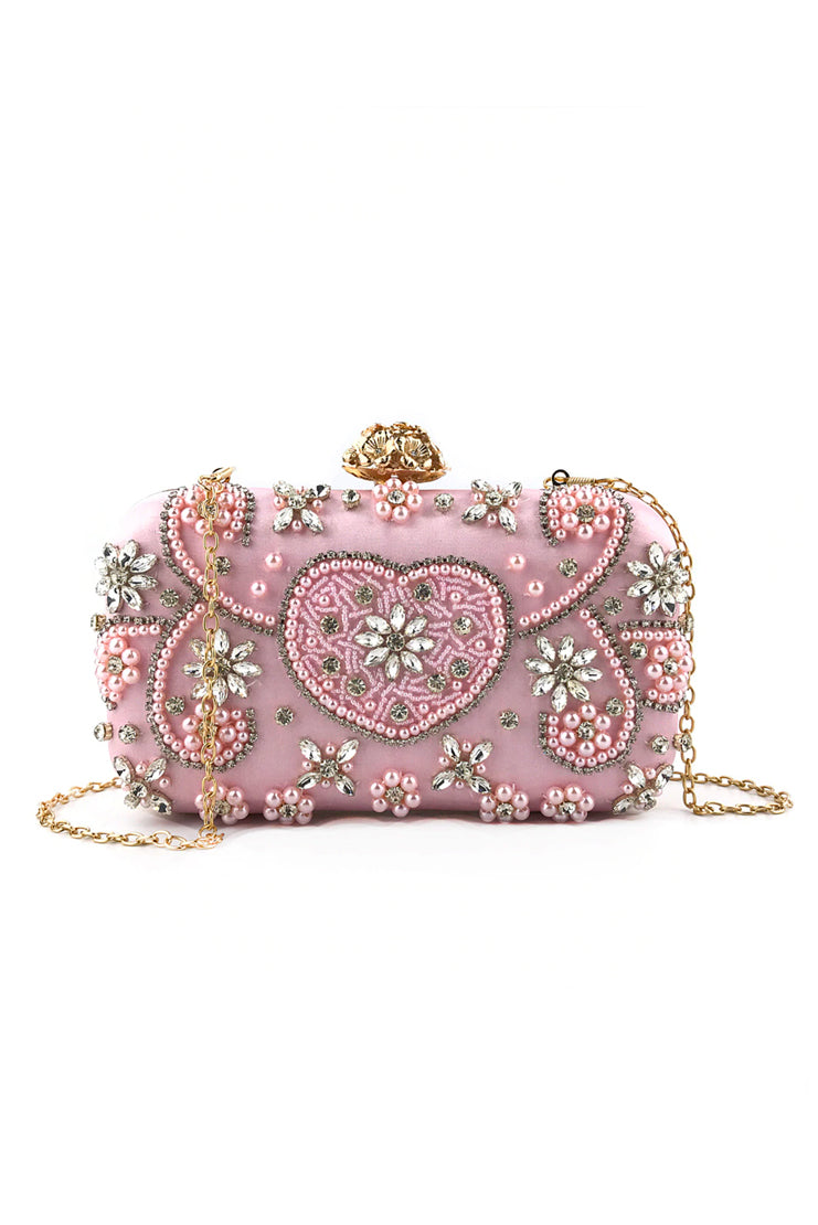 The Duchess Pink Pearl Clutch