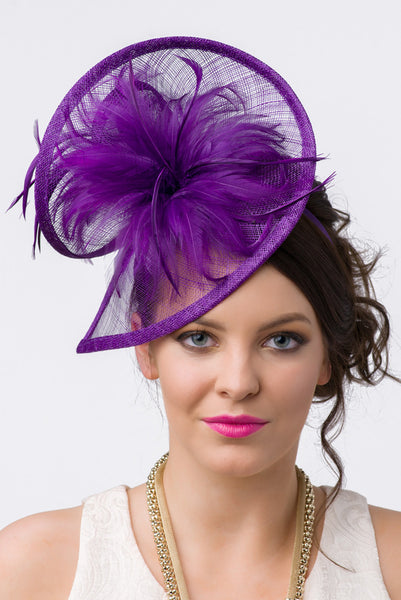 """Victoria"" Fascinator - Royal Purple"