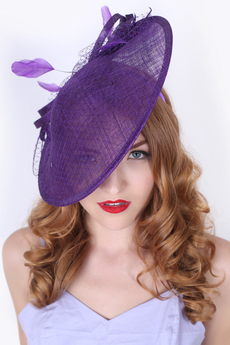 Purple Fascinator Hat