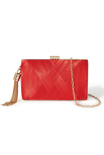 Tassel Clutch - Red