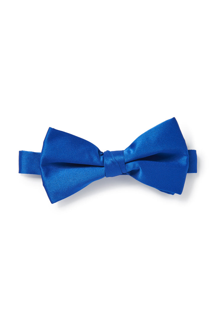 Blue Satin Bow