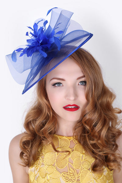 """Isla"" Fascinator - Royal Blue"