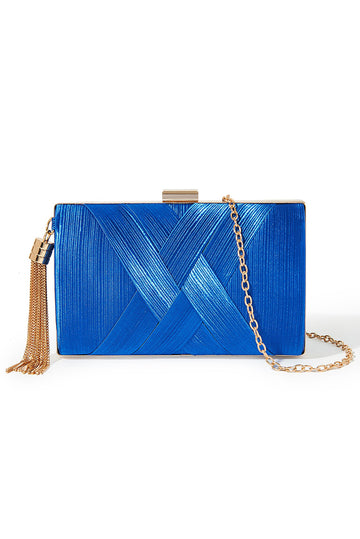 Tassel Clutch - Royal Blue