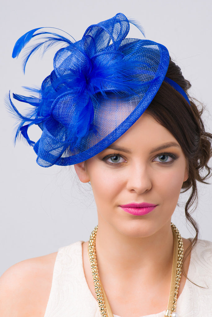 """Penny"" Fascinator - Royal Blue"