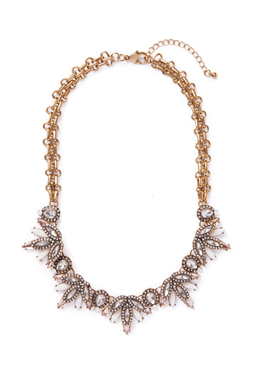 Pink Stones Collar Necklace