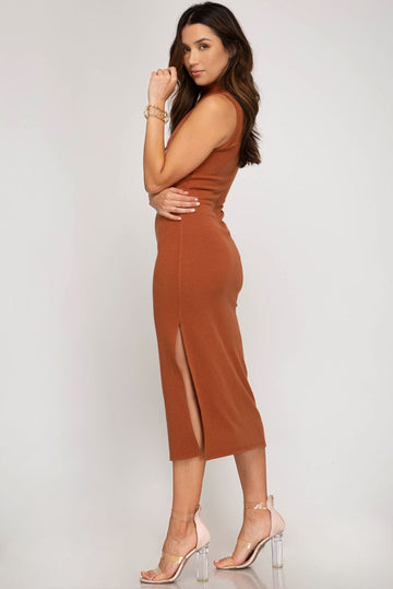Kalani Sleeveless Midi Dress (4 Colors)