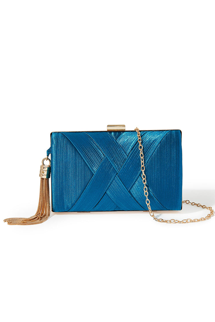 Tassel Clutch - Teal