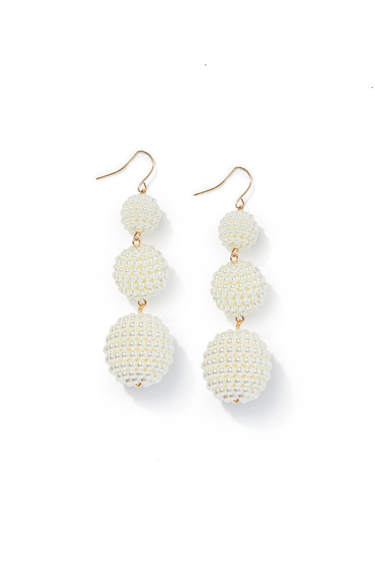 Tiered Pearl Drop Earrings
