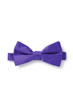Violet Purple Satin Bow Tie