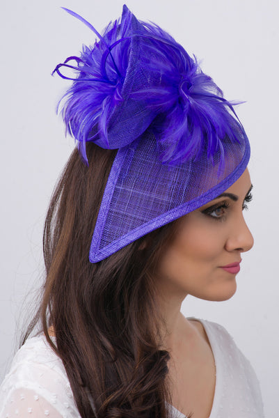 """Victoria"" Fascinator - Violet Purple"