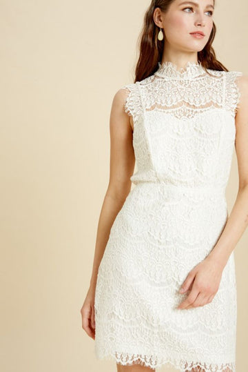Forever White Lace Dress