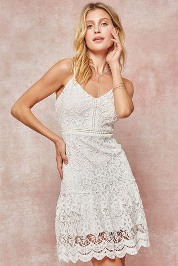 Katie Lace Embroidered Sun Dress