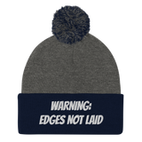 Edges not laid Pom-Pom Beanie