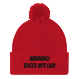 Edges not laid Pom-Pom Beanie (B)