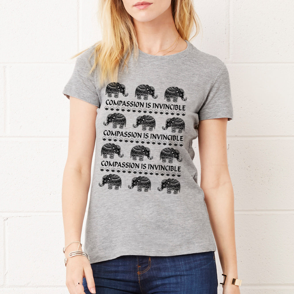 Compassion Is Invincible - Cute Elephants