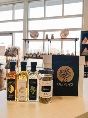 White Box-Olive Oil, Balsamics & Spice Box