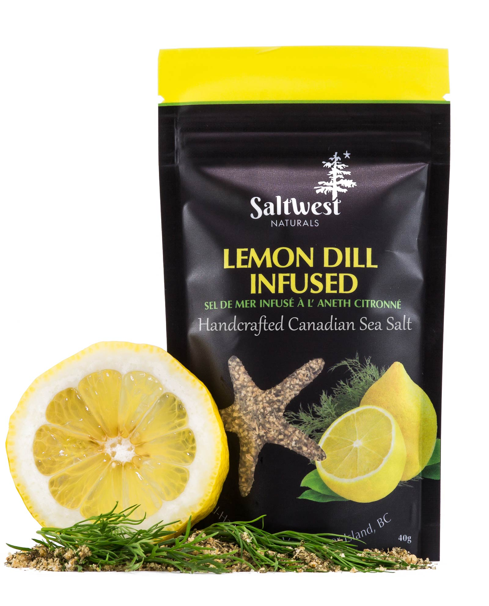 Lemon Dill Infused Sea Salt