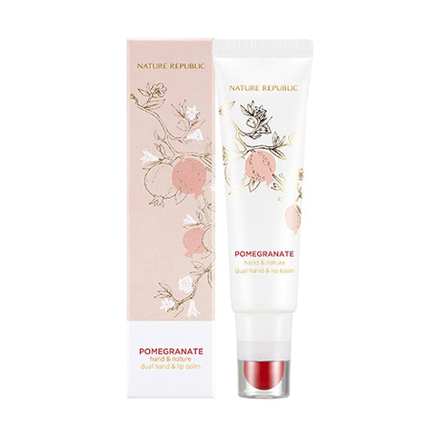 HAND & NATURE POMEGRANATE DUAL HAND & LIP BALM