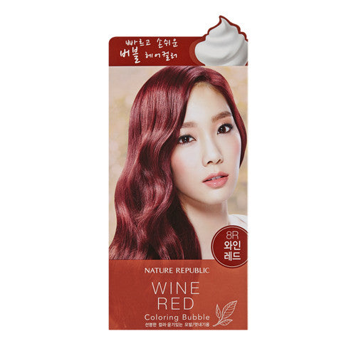 HAIR & NATURE COLORING BUBBLE_8R WINE RED