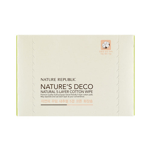 NATURE'S DECO 5 LAYER COTTON WIPE