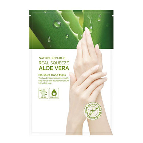 REAL SQUEEZE ALOE VERA MOISTURE HAND MASK
