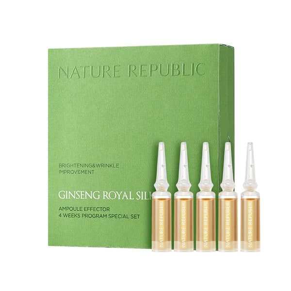 GINSENG ROYAL SILK AMPOULE EFFECTOR 4 WEEKS PROGRAM SPECIAL SET (CRAZY SALE)