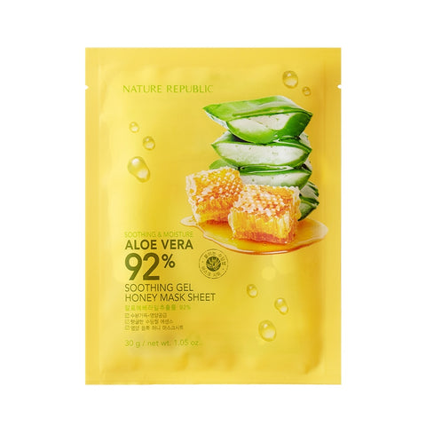 SOOTHING & MOISTURE ALOE VERA 92% SOOTHING GEL HONEY MASK SHEET