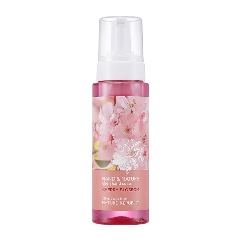 HAND & NATURE CLEAN HAND SOAP-CHERRY BLOSSOM
