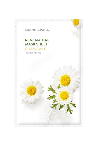 Crazy sale (21.09) Each $45 dollars  Get 1 Face mask pack  REAL NATURE CHAMOMILE MASK SHEET_RENEWAL