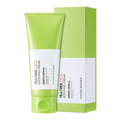 GREEN DERMA TEA TREE CICA SOOTHING CREAM
