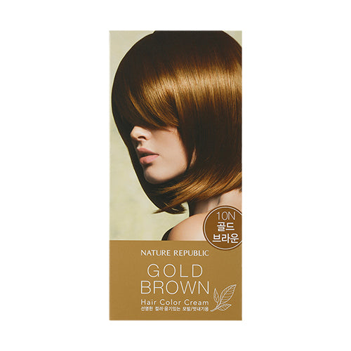 HAIR&NATURE HAIR COLOR CREAM 10N GOLD BROWN
