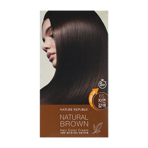 HAIR&NATURE HAIR COLOR CREAM 6S NATURAL BROWN