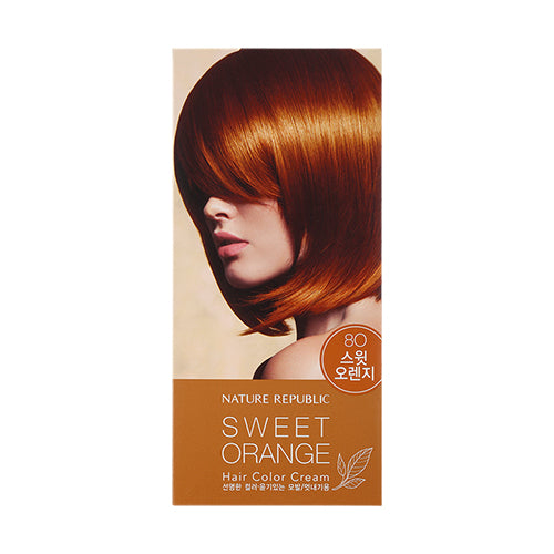 HAIR&NATURE HAIR COLOR CREAM 8O SWEET ORANGE
