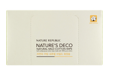 NATURE'S DECO NATURAL MILD COTTON WIPE