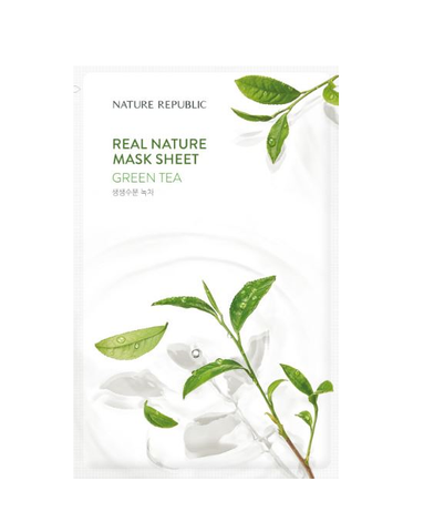 Crazy sale  Each $45 dollars Get 1 free Face mask pack. REAL NATURE GREEN TEA MASK SHEET_RENEWAL