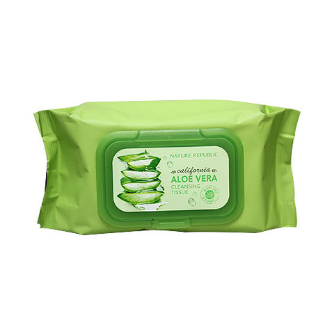 CALIFORNIA ALOE VERA CLEANSING TISSUE  }