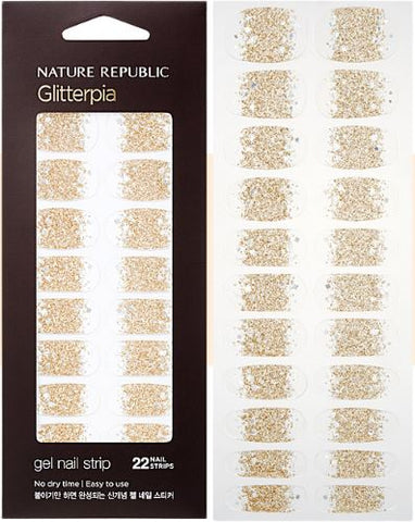 COLOR & NATURE GLITTERPIA GEL NAIL STRIP BURNING SAND (CRAZY SALE )