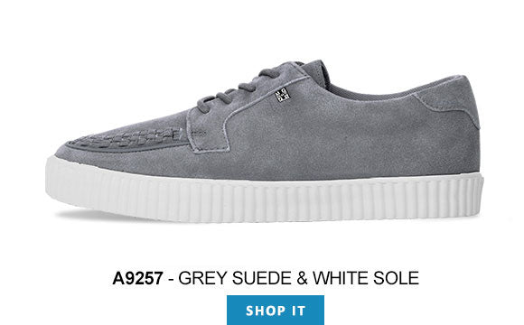 Shoes A9257 Unisex-Adult Creepers T.U.K Grey Suede EZC Shoes