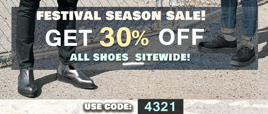 30% off all mens shoes