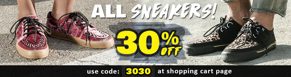 30% off all sneakers
