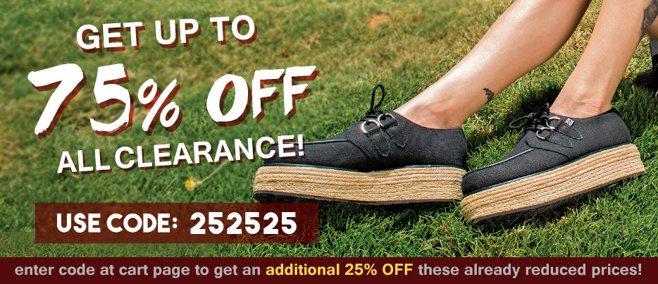 Get 25% off all sale shoes