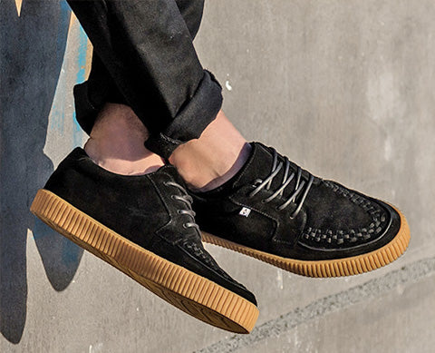 EZC SHOES - BLACK SUEDE GUM SOLE