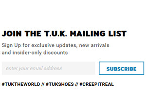 Sign up here for T.U.K. Insider-only discounts!