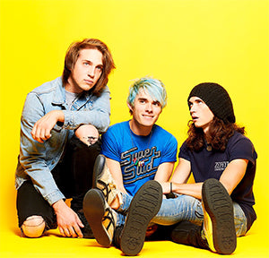 Waterparks ft. Awsten Knight in style V9019 Silver Wingtip Viva Mondo Creepers