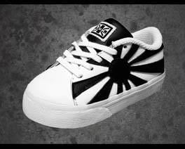 White and Black Rising Sun Baby Sneaker - T.U.K.
