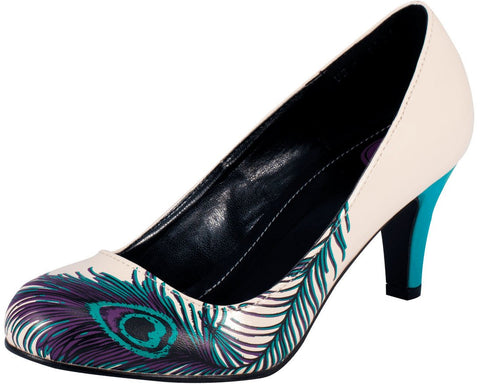 Peacock feather anti-pop heel - T.U.K.