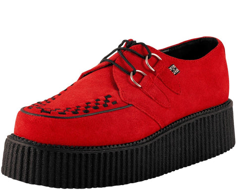 Cherry Suede Creeper - T.U.K.